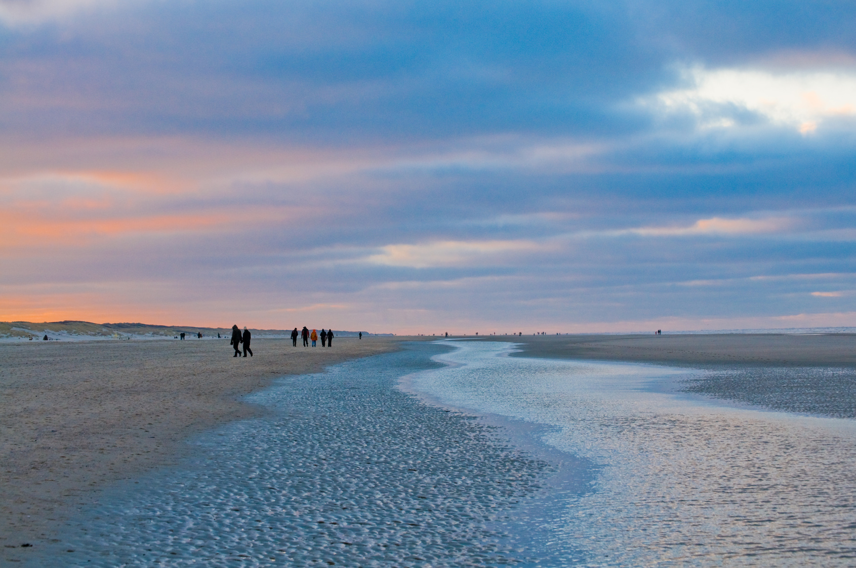 Strandspaziergang, Nordsee, Juist, Ebbe