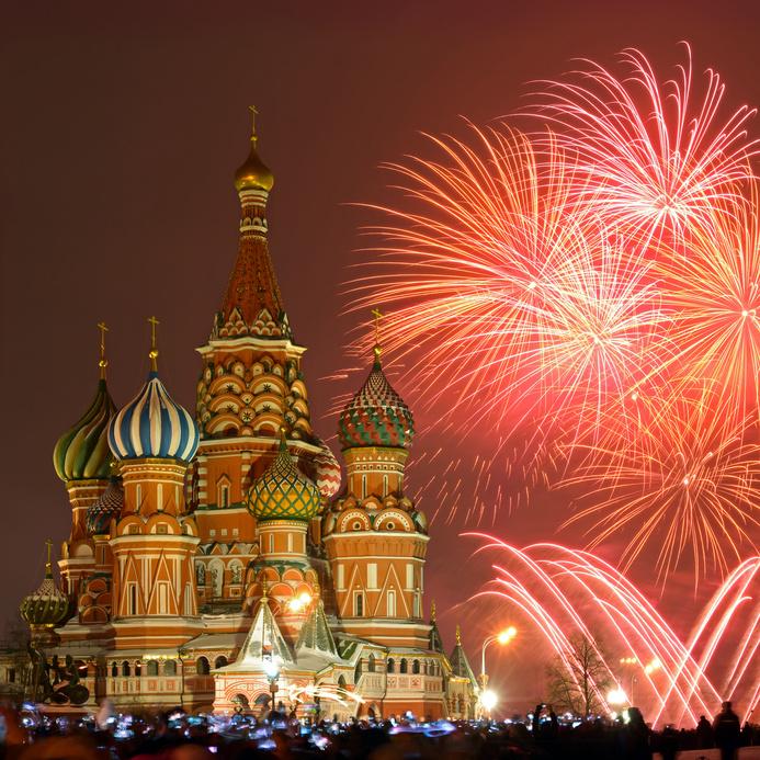 Silvester Moskau Neujahr