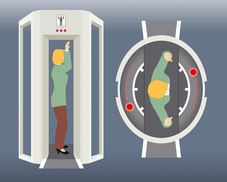 Bodyscanner, Herzschrittmacher beim Security-Scan