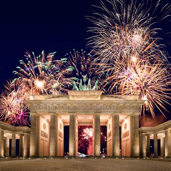 Feuerwerk am Brandenburger Tor Berlin